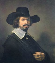"#Rembrandt  --  ""Portrait of a Man""  --  1647  --  Rembrandt van Rijn  --  Oil on board  --  Private Collection"