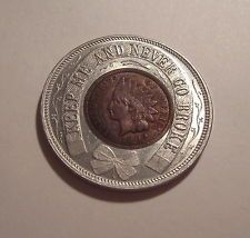 VINTAGE 1909 Seattle A.Y.P. Exposition Lucky Encased Indian Head Penny