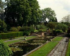 The Long Pond at Folly Farm in Berkshire