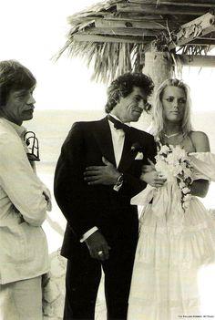 Mick Jagger, Keith Richards & Patti Hansen