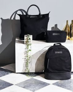 WANT Les Essentiels in black leather and organic cotton