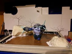 planning out the river diorama for the Z`Gok