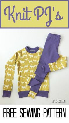 sewing for kids clothes Free Knit Pajama Sewing Pattern Sewing Kids Clothes, Sewing For Kids, Baby Sewing, Free Sewing, Free Knitting, Diy Clothes, Barbie Clothes, Kids Clothing, Boys Sewing Patterns