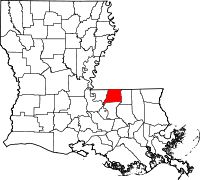 Map of Louisiana highlighting East Feliciana Parish