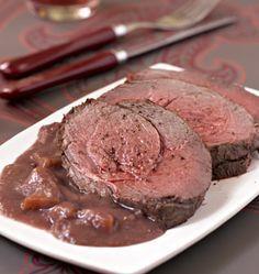 Rôti de biche, sauce grand veneur - Recettes de cuisine Ôdélices