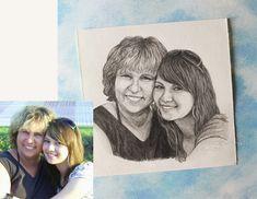 XS Handgezeichnetes Portrait nach Deinem Foto. Persönliche | Etsy Polaroid Film, Etsy, Pictures, Drawing Hands, Pencil