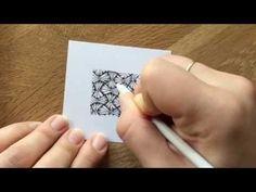 Lerne mit dieser Anleitung, das Zentangle Muster Venetian von Elaine Benfatto zu zeichnen. Weitere Muster gibt es auf http://bunte-galerie.de/zentangle-muste...
