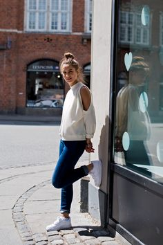 Wish I could pull off those Air Force Ones... Copenhagen Street Style on http://thelocals.dk