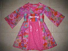 OOAK  Kyoko Girls Dress Size 3/4 Ready to SHIP by SweetSnugglebugs, $50.00