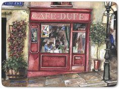 Another Paris café Paris Cafe, Decoupage Vintage, Cafe Design, Street Art, Gallery Wall, Frame, Painting, Puzzles, Shops