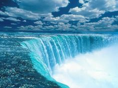 waterfalls form when a river wears away its bed then a cliff forms then water comes rushing in to the rocks down there
