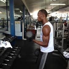 ...and pumping iron like crazy to get jacked for the next upcoming season.