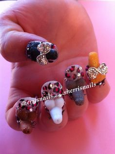 Crazy and funny nail request I had! It was very interesting sculpting them. Lol!