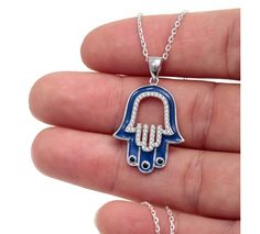 Designer Hamsa Evil Eye Necklace