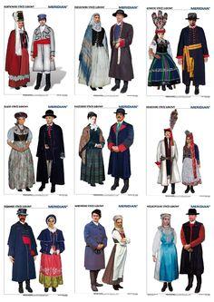 Polskie stroje ludowe - komplet 10 plansz Wydawnictwo Edulex Forensic Facial Reconstruction, Polish Folk Art, Ethnic Outfits, Ethnic Clothes, Folk Clothing, Tribal Dress, Wedding Costumes, Folk Costume, Festival Wear