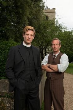 Sidney Chambers (James Norton) and Geordie Keating (Robson Green) of Grantchester