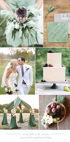 106 best Shades Of Mint Green Wedding Color Palette images on ...