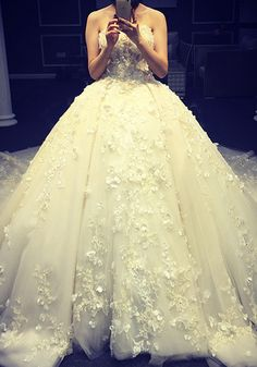 Robe de Mariée Victorienne-Robe De Mariée De Luxe 2016 Robe De Bal Bretelles…