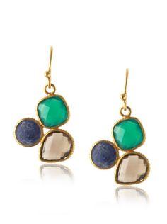 61% OFF Suri Gems Multi-Stone Cluster Earrings