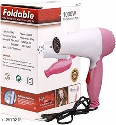 Trimmers TECHICON Professional Folding Hair Dryer with 2 Speed Control 1000W - Assorted Color  Material : Plastic  Brand : Tech Icon Size : Free Size Ideal For : Women Power : 1000 W Description: It Has 1 Piece Of Folding Hair Dryer Country of Origin: India Sizes Available: Free Size   Catalog Rating: ★3.8 (3278)  Catalog Name: Solid Electronic Utilities Vol 1 CatalogID_362530 C50-SC1373 Code: 442-2679219-