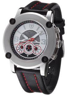 Detomaso - DT1001B - Monterosso - Montre Homme - Quartz Analogique - Cadran Multicolore - Bracelet Cuir Noir: Amazon.fr: Montres