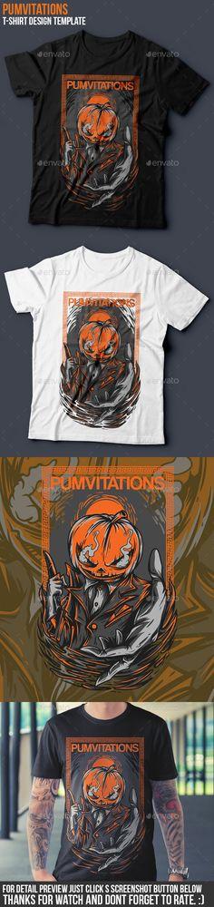 Pumvitations T-Shirt Design  EPS Template • Download ➝ https://graphicriver.net/item/pumvitations-tshirt-design/16916782?ref=pxcr