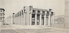 Paul Rudolph, Yale Art and Architecture building, 1959 Philip Johnson, Walter Gropius, Art And Architecture, Architecture Details, Paul Rudolph, Richard Neutra, Heritage Foundation, Exposed Concrete, Drawings Of Friends