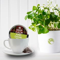 The Irish like their tea. Bring them luck and love with a can of our favorite flavors. Choose from our fantastic designs or create your own. Irish Tea, Keep Calm And Drink, Luck Of The Irish, St Patricks Day, Canning, Mugs, Drinks, Tableware, Holiday