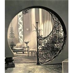 Rampe d'escalier en fer forgé style oriental                                                                                                                                                                                 Plus