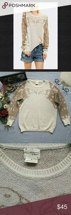 "COINCIDENCE & CHANCE UO FACING EAGLES SWEATER NWOT *NEW WITHOUT RETAIL TAGS.  *OVERSIZED FIT 66% ACRYLIC 29% NYLON 5% WOOL *MACHINE WASHABLE *MEASUREMENTS ARE APPROX & TAKEN LYING FLAT *SLEEVES 18"" *BUST 22"" *SHOULDER TO HEM 24"" *STORED IN NON-SMOKING PET FREE HOME Urban Outfitters Sweaters Crew & Scoop Necks"