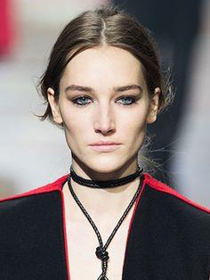 Lanvin beauty look fall 2015 paris fashion week