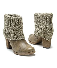 Another great find on #zulily! Taupe Chris Embossed Boot - Women #zulilyfinds