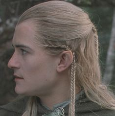 Legolas hair tutorial (click the picture) too bad my hair is too short lol