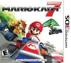 Mario Kart 7 was the first Mario Kart game to be able to glide, and go underwater! The game didn't include bikes, and instead of 12 racers there were 8. It came out December 4th, 2011!