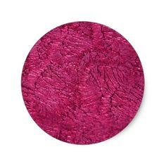 Simple Faux Metallic Pink. Classic Round Sticker - craft supplies diy custom design supply special