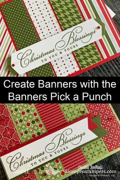 Have you seen the Stampin' Up! Banners pick a punch? It's the best paper craft punch I've seen all year—a great staple in your craft room. Check it out at www.klompenstampers.com #bannerspickapunch #craftpunches #papercrafts #papercrafting #cardmakingideas #simplecards #easycardmaking #easycards #jackiebolhuis #klompenstampers #stampinupcards #stampinupchristmascards