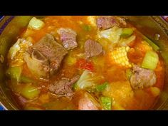 Caldo de Res bien Nutritivo y Sabroso - YouTube Meat Recipes, Mexican Food Recipes, Cooking Recipes, Ethnic Recipes, Fish Soup, Puerto Rican Recipes, Tasty, Yummy Food, Beef Broth