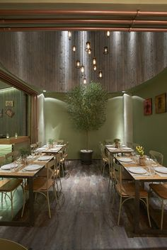 Mexil Design: Restaurant To Magazi Athens Luxury Restaurant, Restaurant Design, Greens Restaurant, Athens, Furniture Design, Dining Table, Outdoor Furniture, Architecture, Nice