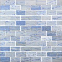 Blue Macauba 2x4 Polished Marble | TileBar.com