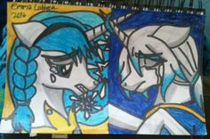 My OC Ipsa and my friends OC Frosty, Ice Mage sisters, one is an Angel and the other is a Felled Angel, MLP-style