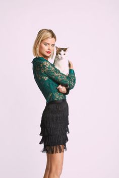 Go Down in Mystery Lace Top in Emerald - Get ready to break records for pioneering the most alluring look around with this deep green lace top! Polished with a solid collar and cuffs, yet made all the more captivating with sheer fabric offering the perfect amount of stretch, this ModCloth namesake label blouse is sure to amp up your intrigue.