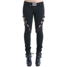 Gothic Pants with Openings on theLegs | Crazyinlove UK