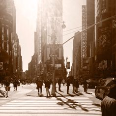 Sunlight in Times Square