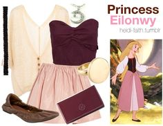 Disney princess themed outfits..... Wait, why is she not included in the Disney princesses?!