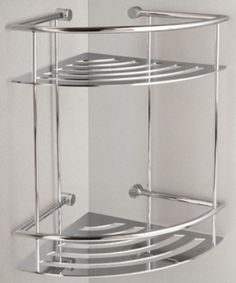 miller classic chrome bathroom 2 tier corner shower shelf 863c