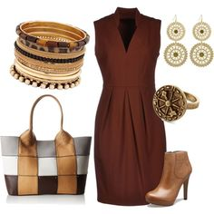"""Brown desire"" by chaeris on Polyvore"