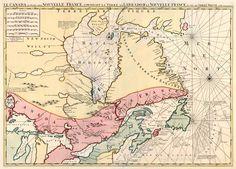 Le Canada ou Partie de la Nouvelle France, Contenant la Terre de Labrador la Nouvelle France, les Isles de Terre Neuve, de Nostre Dame &c. - Covens & Mortier, c. 1720