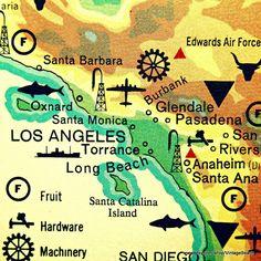 LOS ANGELES map photograph