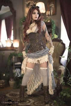 Lacy Steampunk Burlesque