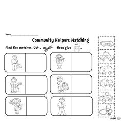 Results for community helpers | worksheet | Guest - The Mailbox ...